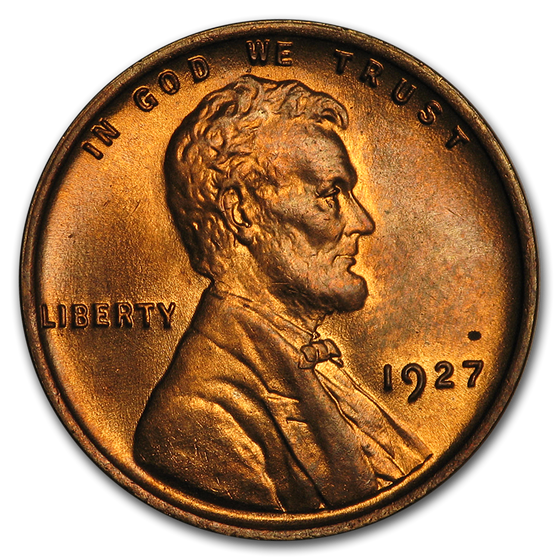 1927 Lincoln Cent BU (Red)