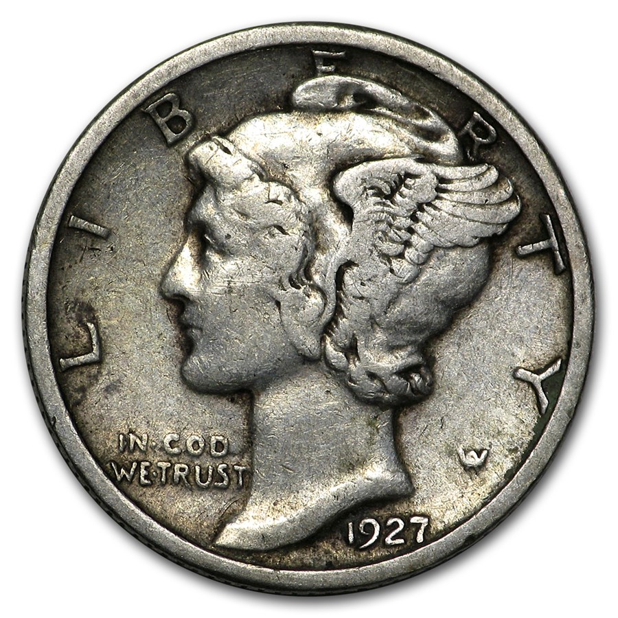 1927 Mercury Dime Good/VF