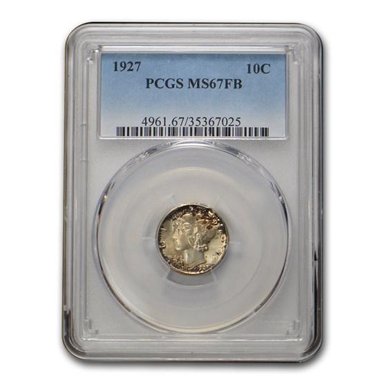 1927 Mercury Dime MS-67 PCGS (FB)