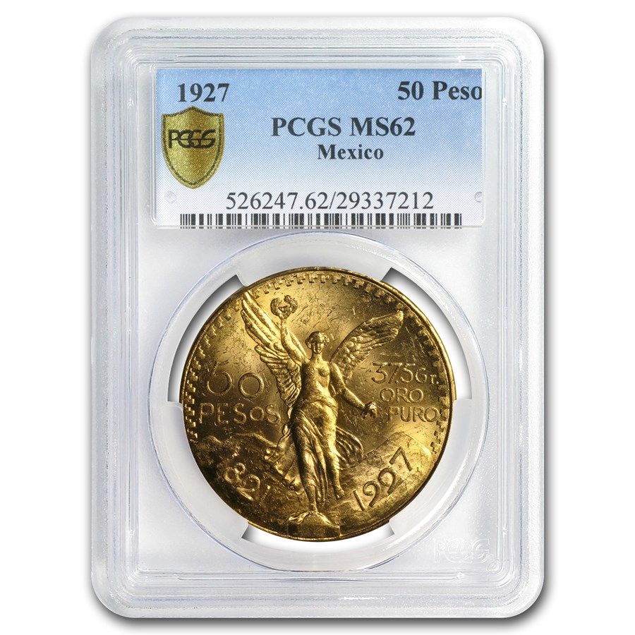 1927 Mexico Gold 50 Pesos MS-62 PCGS