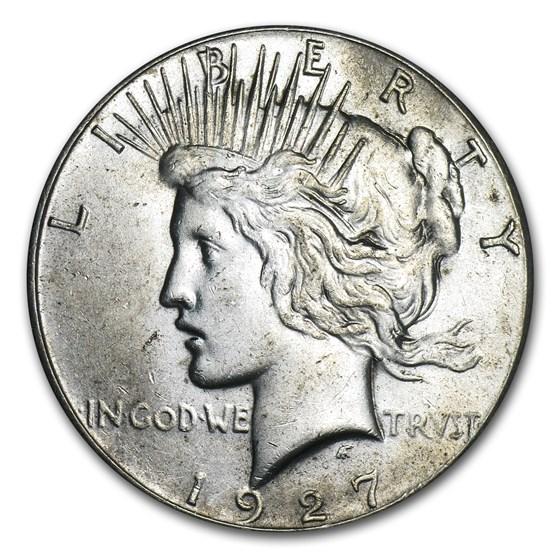 1927 Peace Dollar AU-58