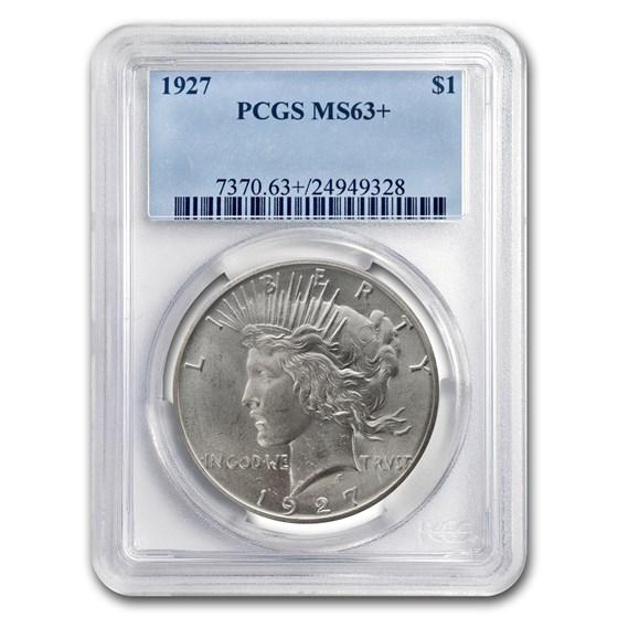 1927 Peace Dollar MS-63+ Plus PCGS