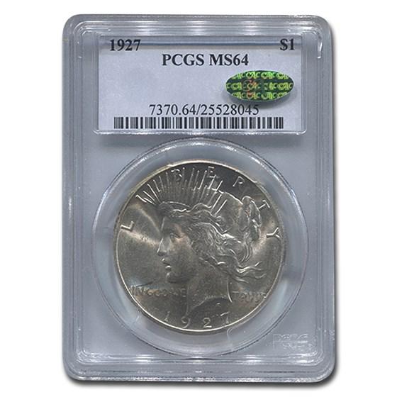 1927 Peace Dollar MS-64 PCGS (CAC)
