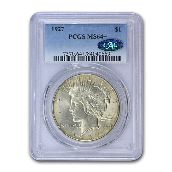 1927 Peace Dollar MS-64+ PCGS CAC