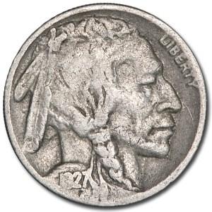 1927-S Buffalo Nickel Good+