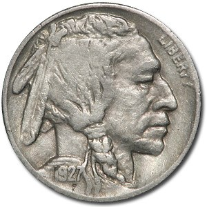 1927-S Buffalo Nickel VF