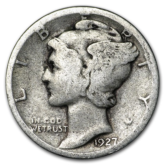 1927-S Mercury Dime Good/Fine