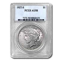 1927-S Peace Dollar AU-58 PCGS
