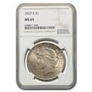 1927-S Peace Dollar MS-65 NGC