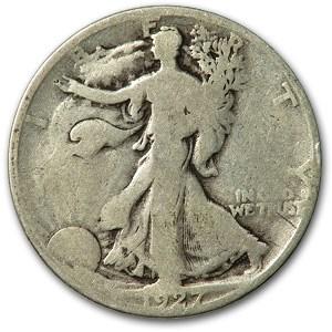 1927-S Walking Liberty Half Dollar AG
