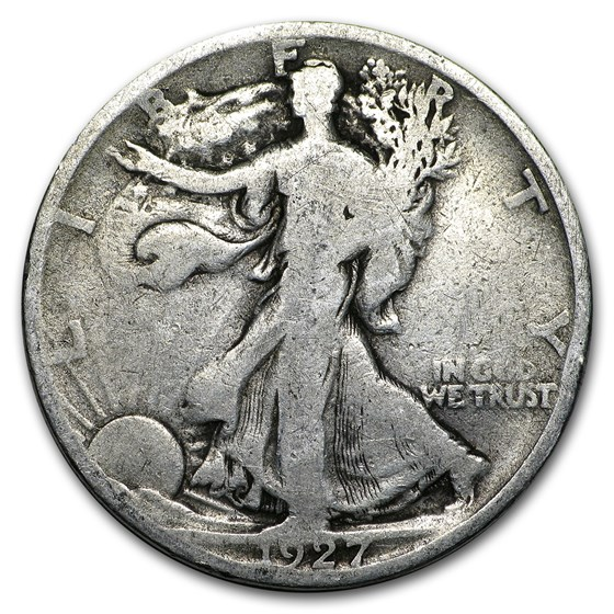 1927-S Walking Liberty Half Dollar Good/VG