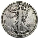 1927-S Walking Liberty Half Dollar VF