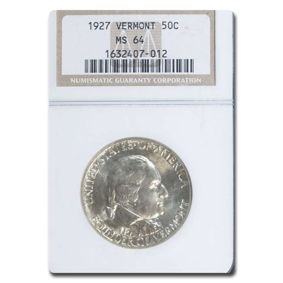 1927 Vermont Half Dollar MS-64 NGC