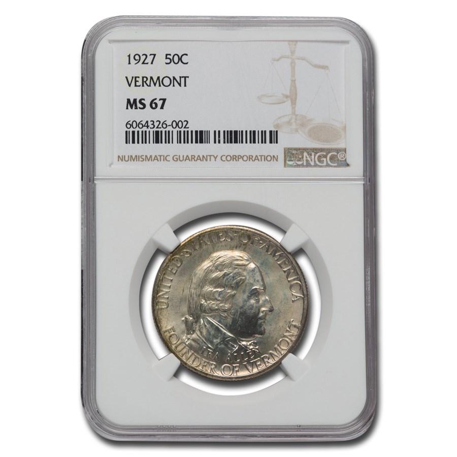 1927 Vermont Sesquicentennial Half Dollar Commem MS-67 NGC