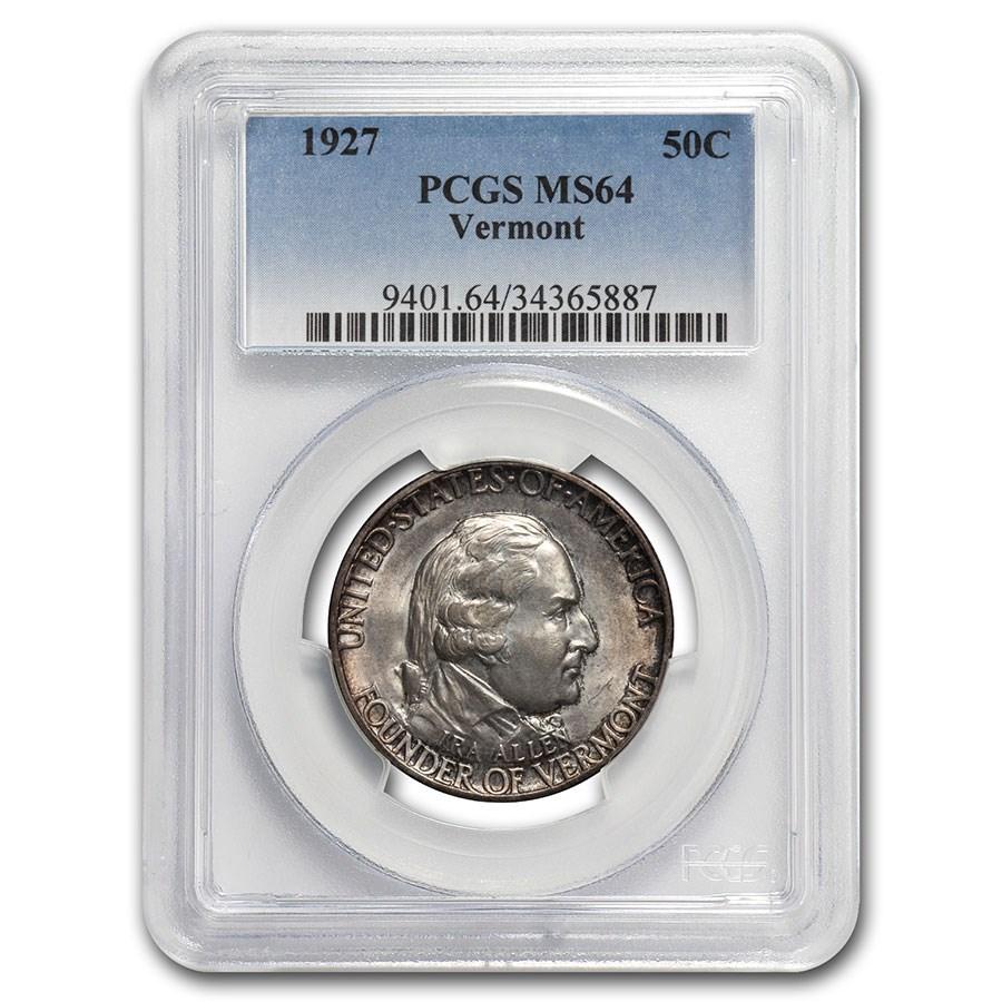 1927 Vermont Sesquicentennial Half Dollar MS-64 PCGS