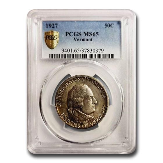 1927 Vermont Sesquicentennial Half Dollar MS-65 PCGS