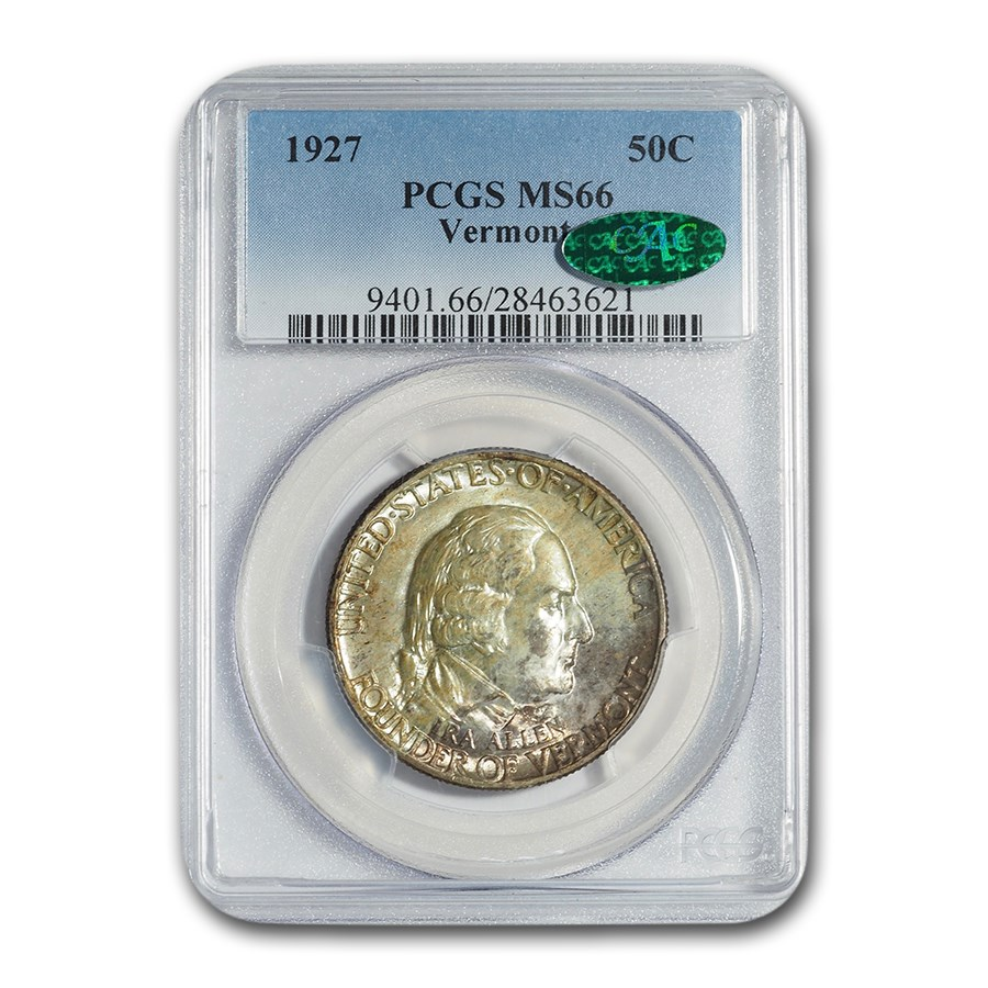 1927 Vermont Sesquicentennial Half Dollar MS-66 PCGS CAC