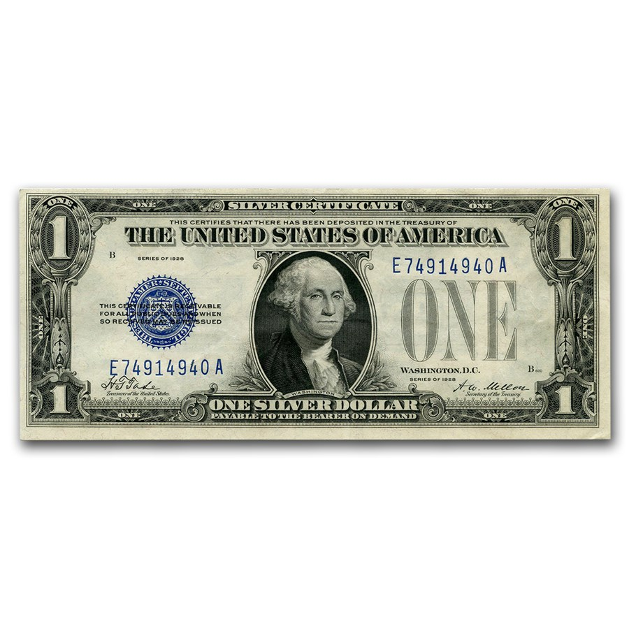 1928 $1.00 Silver Certificate CU (Fr#1600)