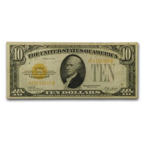 1928 $10 Gold Certificate VF (Fr#2400)