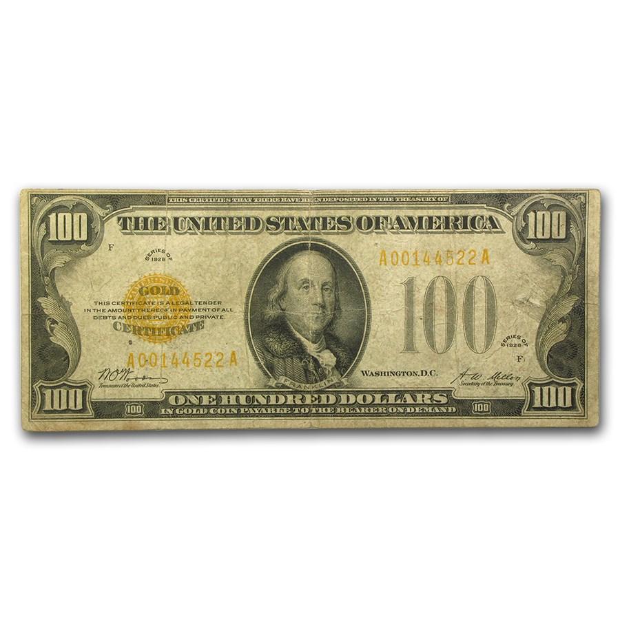 1928 $100 Gold Certificate Fine