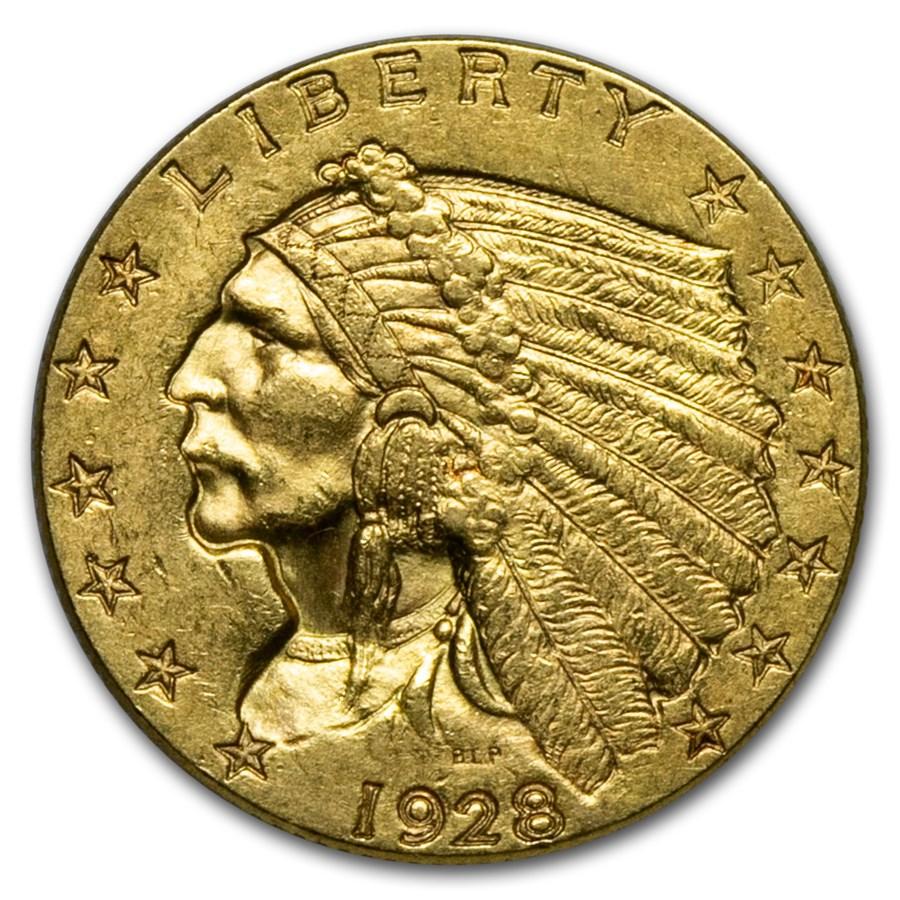1928 $2.50 Indian Gold Quarter Eagle AU