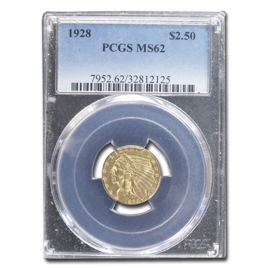 1928 $2.50 Indian Gold Quarter Eagle MS-62 PCGS