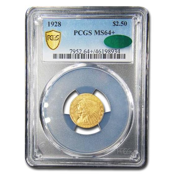 1928 $2.50 Indian Gold Quarter Eagle MS-64+ PCGS CAC