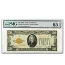 1928 $20 Gold Certificate Gem CU-65 EPQ PMG (Fr#2402)