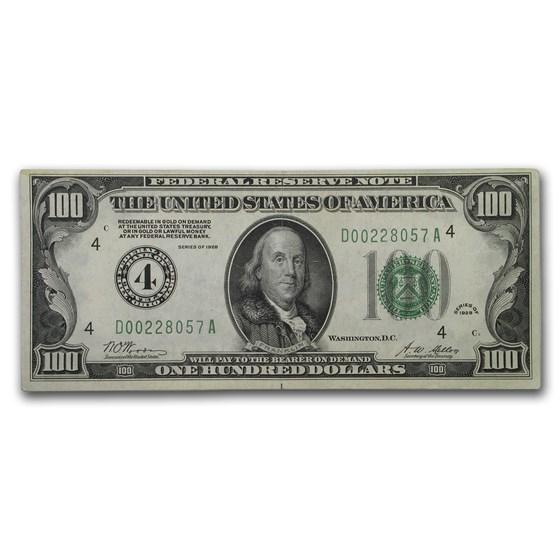 1928 (4-Cleveland) $100 FRN XF (Fr#2150-D)