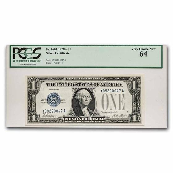 1928-A $1.00 Silver Certificate CU-64 PCGS (Fr#1601)
