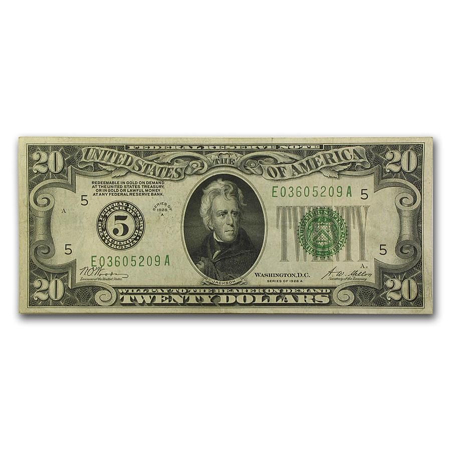 1928-A (5-Richmond) $20 FRN VF
