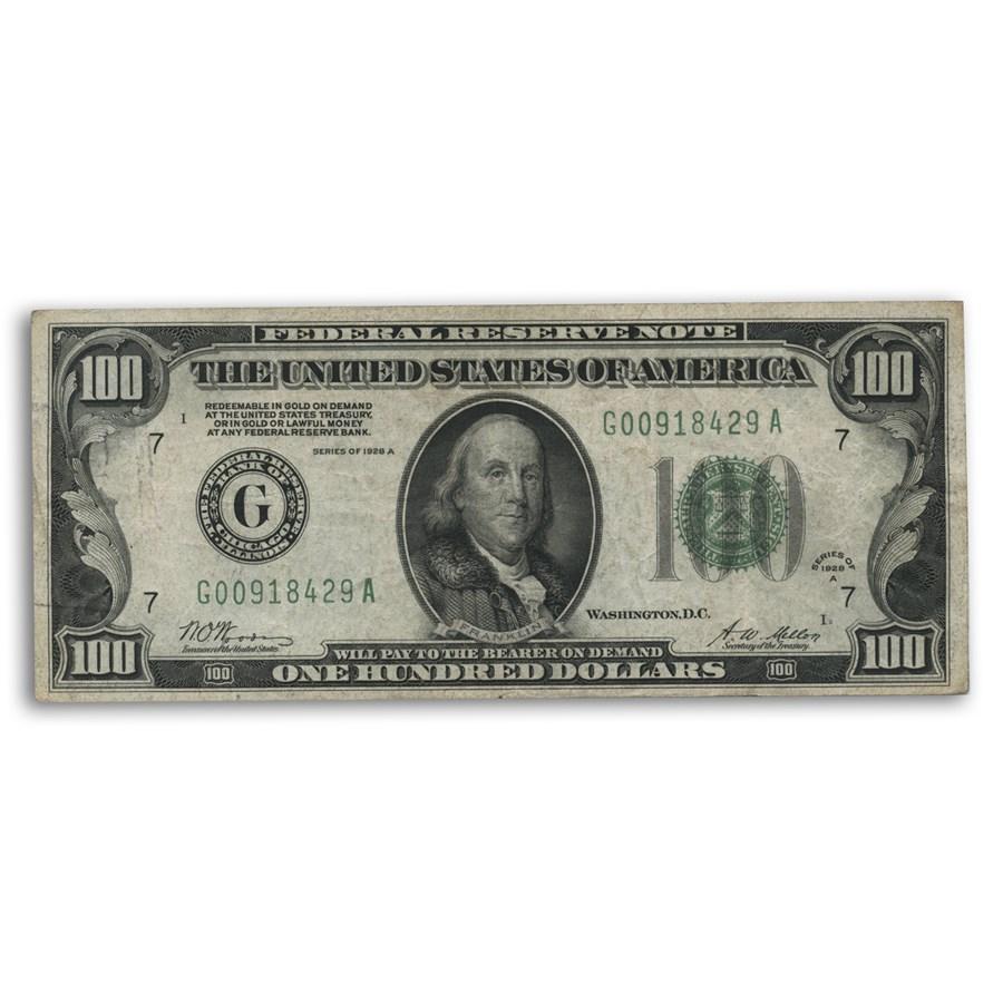 1928-A (G-Chicago) $100 FRN VF (Fr#2151-G) DGS