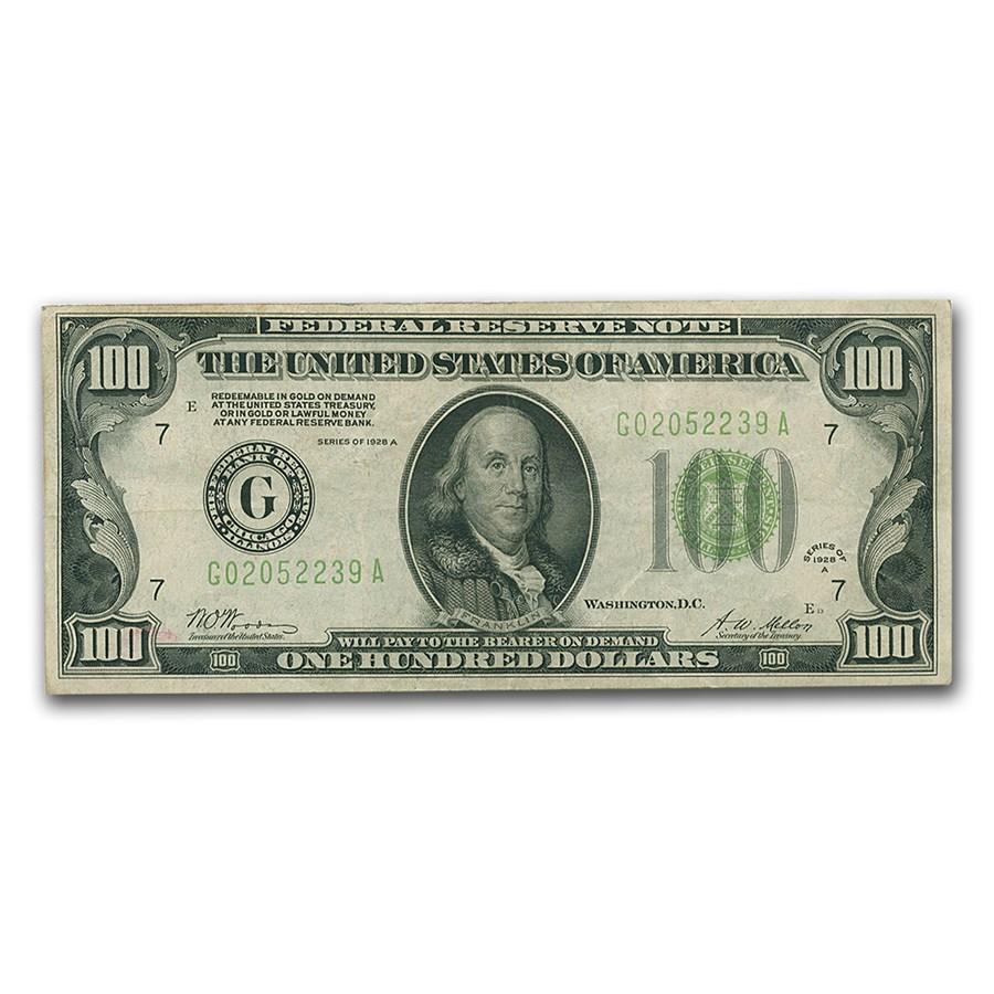 1928-A (G-Chicago) $100 FRN VF (Light Green)