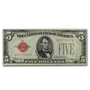 1928-B $5.00 U.S. Note Red Seal XF