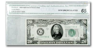1928-B (G-Chicago) $20 FRN Gem Unc-65 CGA