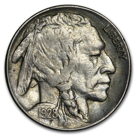 1928 Buffalo Nickel AU