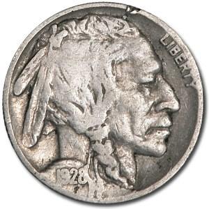 1928 Buffalo Nickel Good+