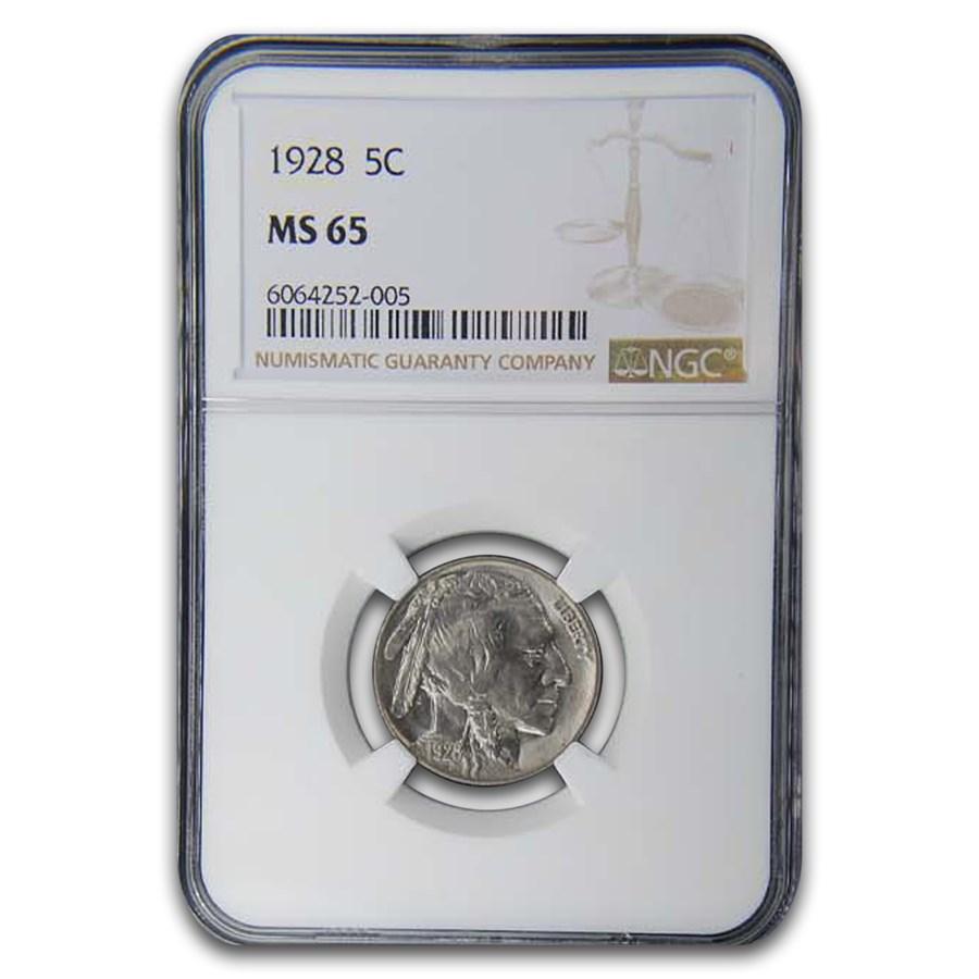 1928 Buffalo Nickel MS-65 NGC