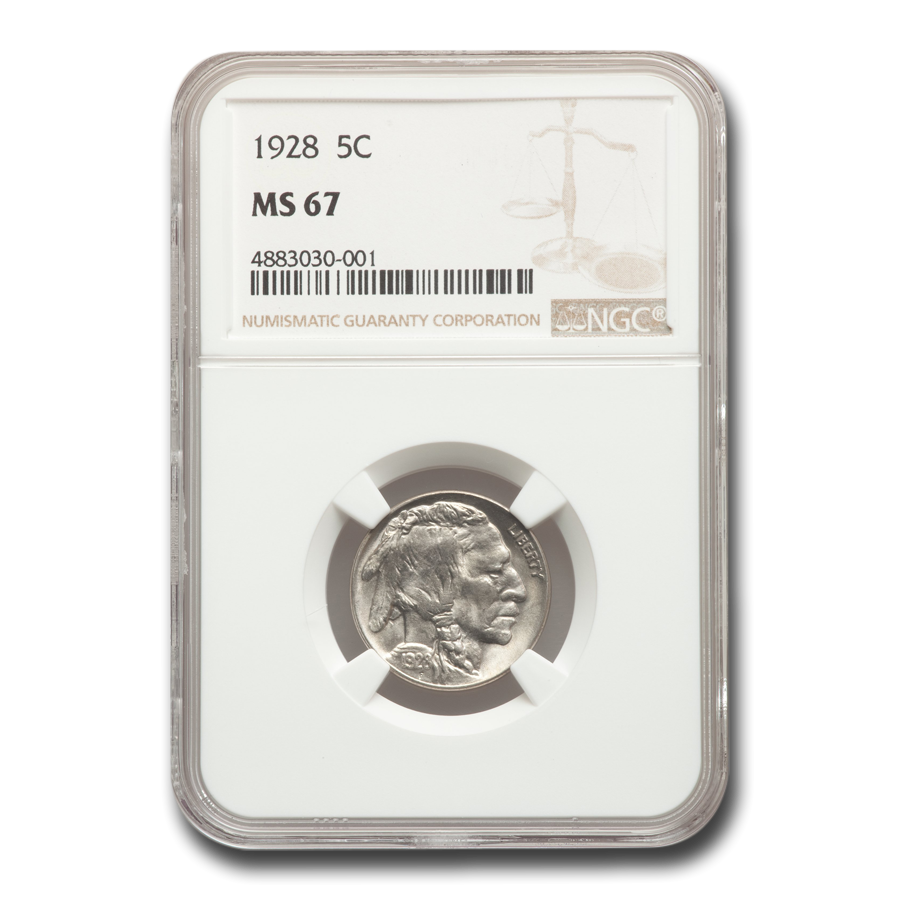 1928 Buffalo Nickel MS-67 NGC