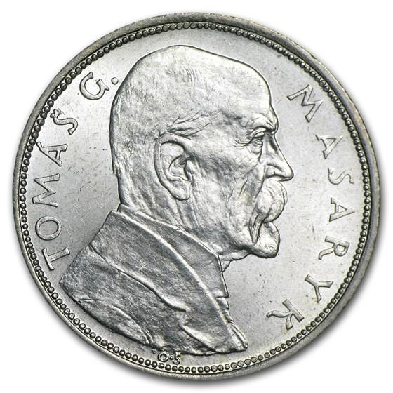 1928 Czechoslovakia Silver 10 Korun BU