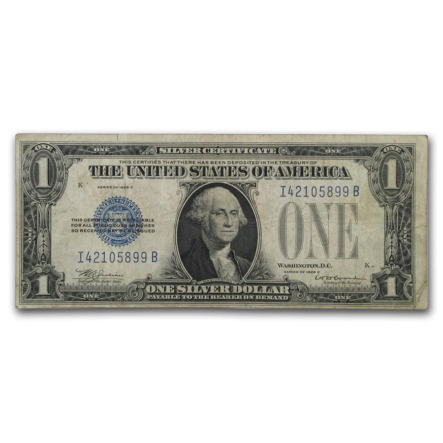 1928-D $1.00 Silver Certificate Fine