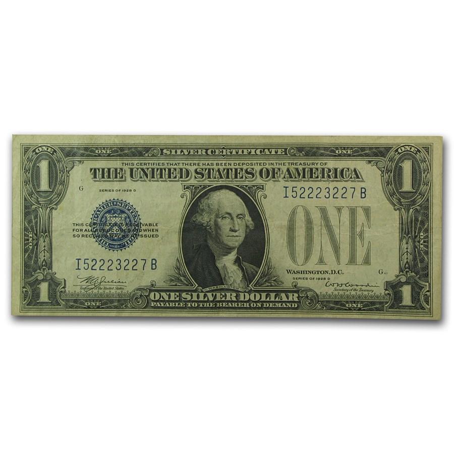 1928-D $1.00 Silver Certificate VF (Fr#1604)
