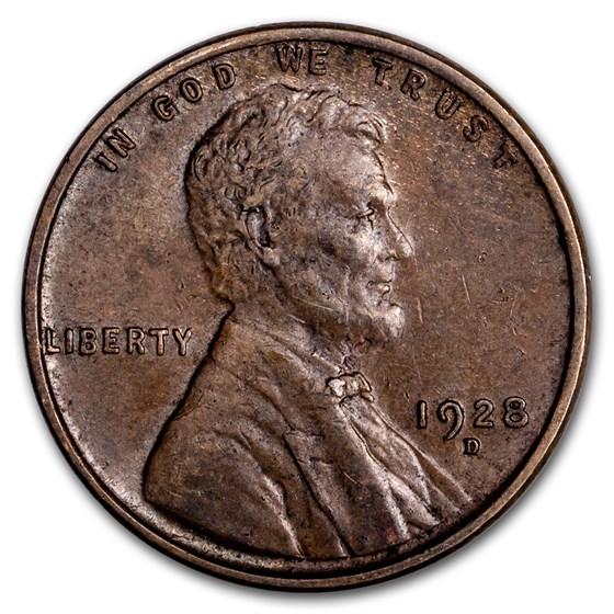 1928-D Lincoln Cent AU