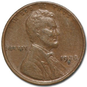 1928-D Lincoln Cent VF