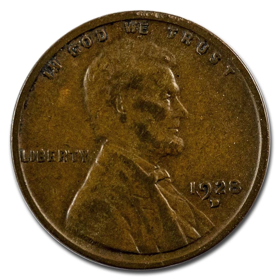 1928-D Lincoln Cent XF