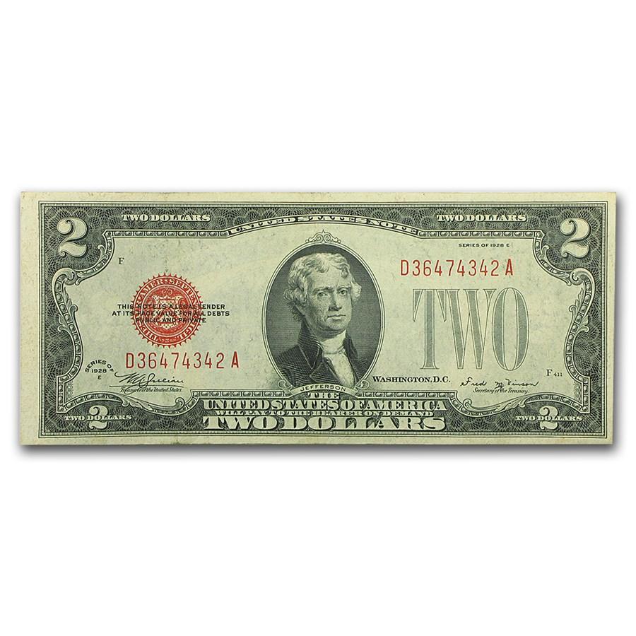 1928-E $2.00 U.S. Note Red Seal CU