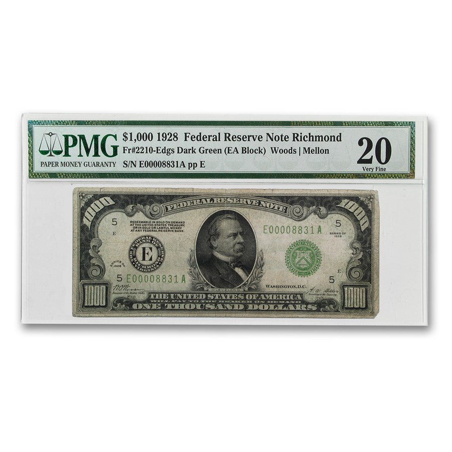 1928 (E-Richmond) $1,000 FRN VF