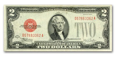 1928-F $2.00 U.S. Note Red Seal XF (Fr#1507)