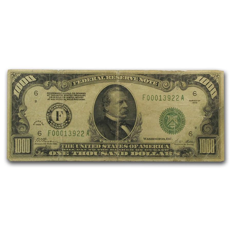 1928 (F-Atlanta) $1,000 FRN Fine
