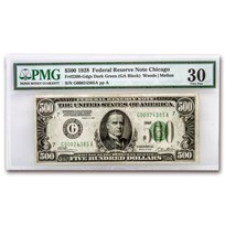 1928 (G-Chicago) $500 FRN VF-30 PMG